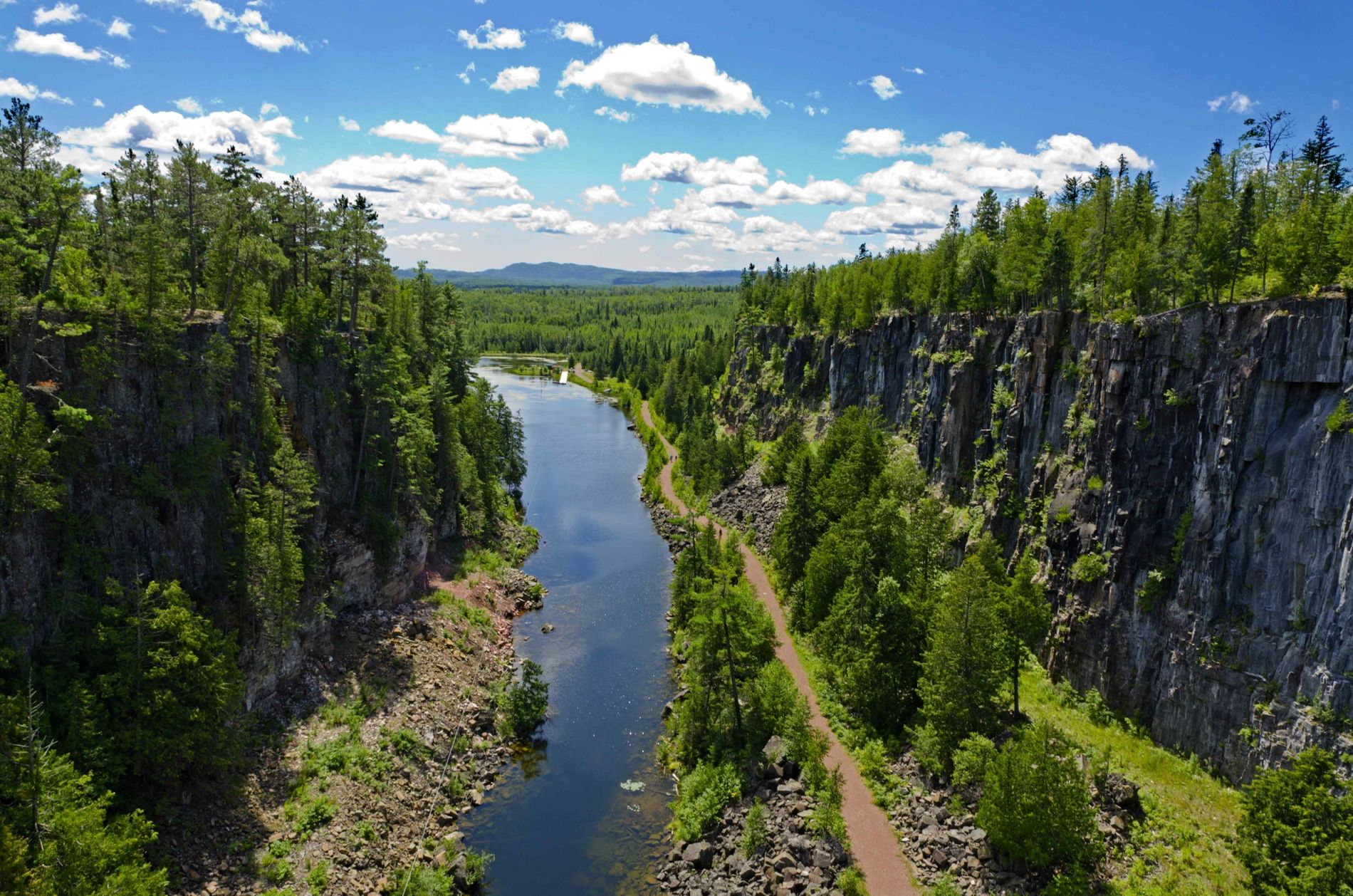 View of a canyon near Thunder Bay, north of Lake Superior.