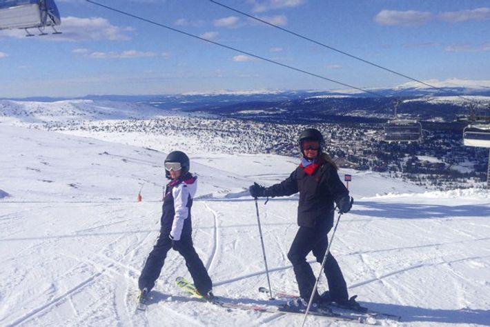 Sarah and Ella on the slopes. Credit: Sarah Barrell