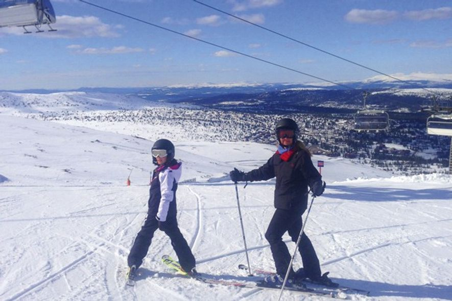Sarah and Ella on the slopes. Credit: Sarah Barrell