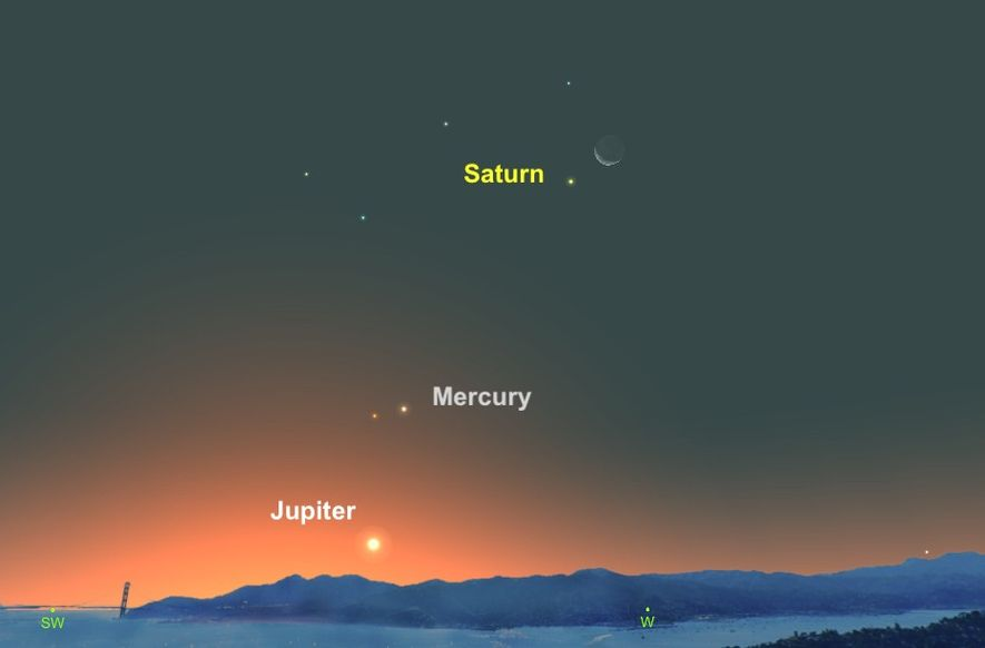 Creamy-coloured Saturn will seem to hover near the moon on November 11.