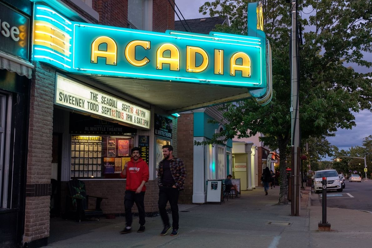 Acadia Cinema on Main Street in Wolfville, is a historic landmark dating back to 1899. Wolfville ...