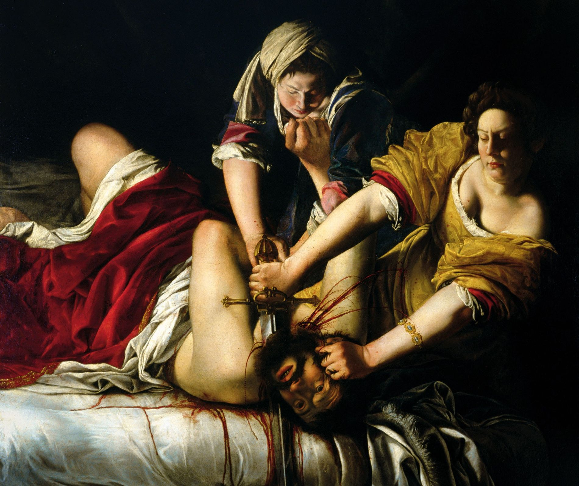 """Gentileschi's 1620 """"Judith Beheading Holofernes"""" portrays an Old Testament story of the Israelite widow Judith who ..."""