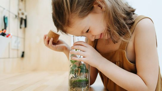 OG Girl With Plant - Spring Science Experiments