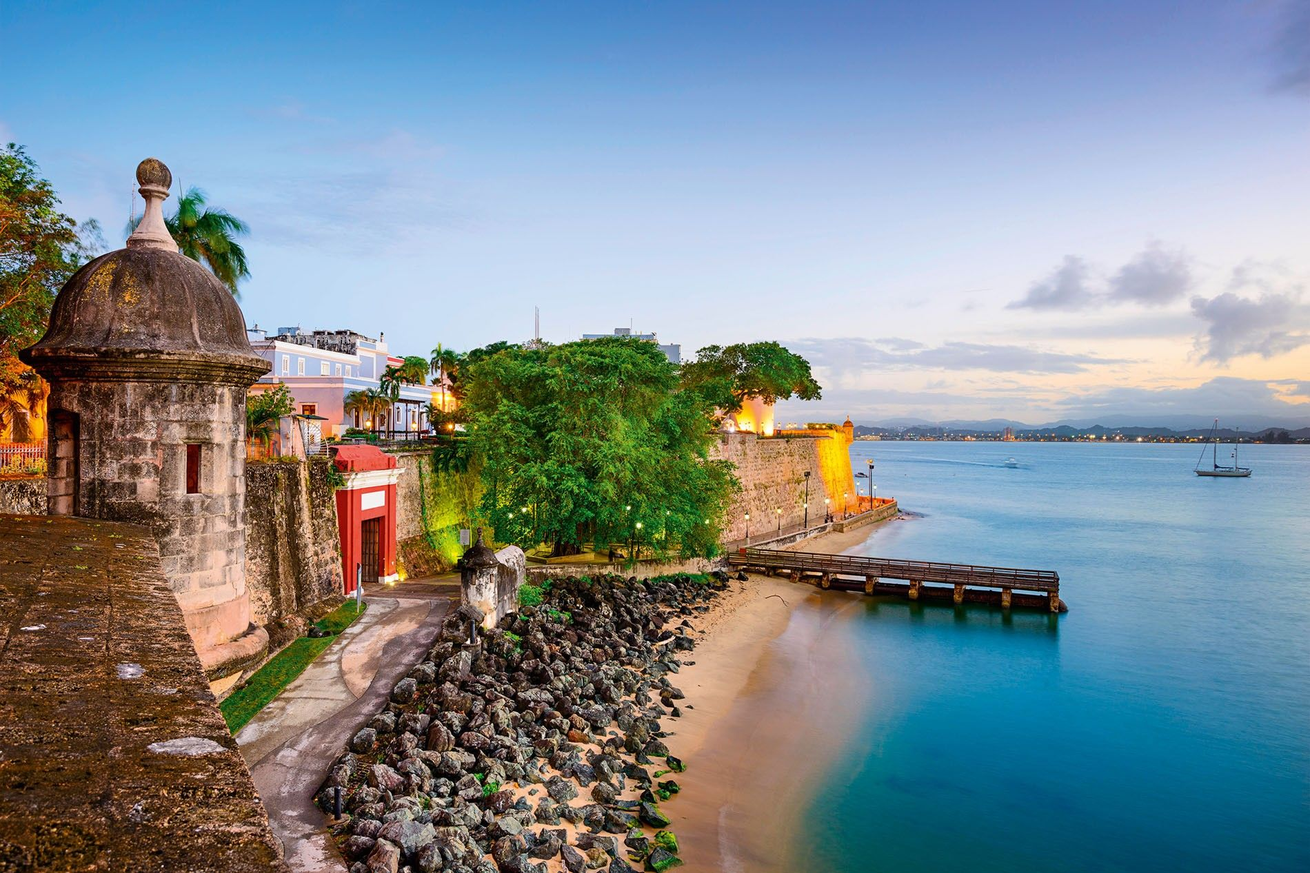 The view over Paseo de la Princesa in Old San Juan. The Puerto Rican capital turned ...