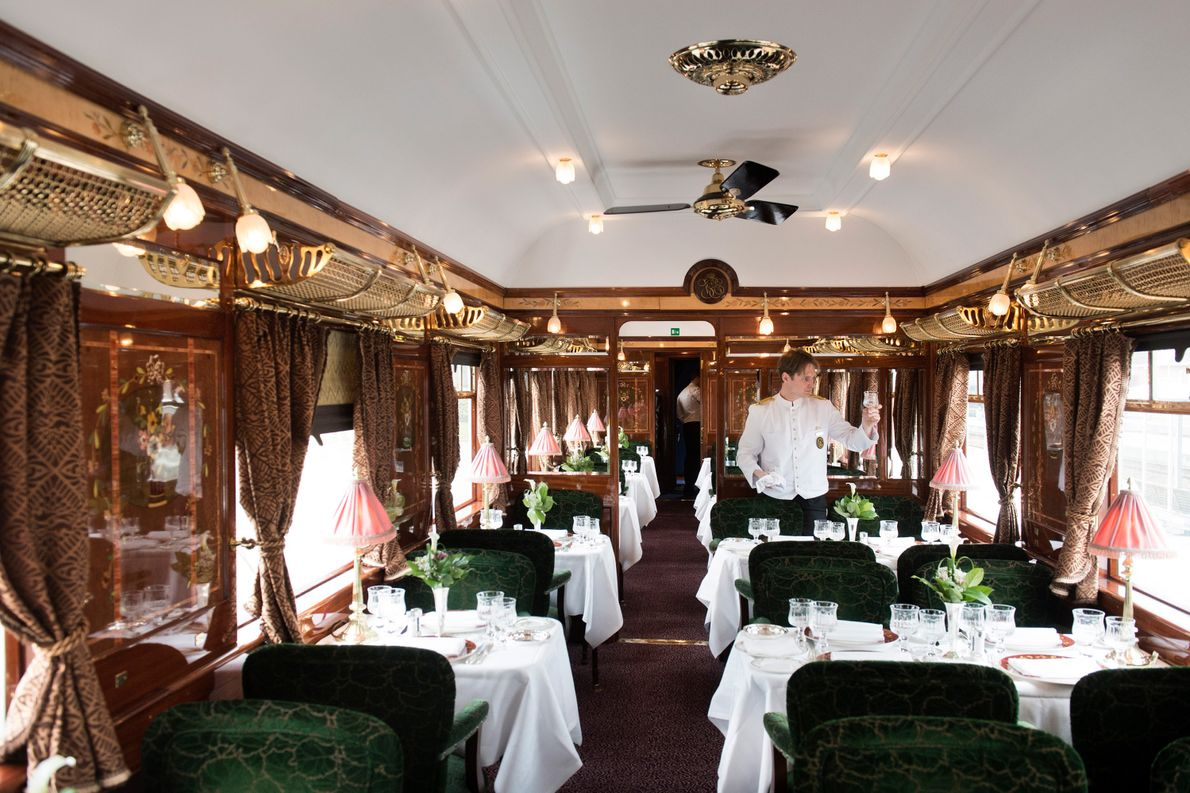 Black-tie glamour still rules on the century-old Orient Express from London to Venice, which passes through ...