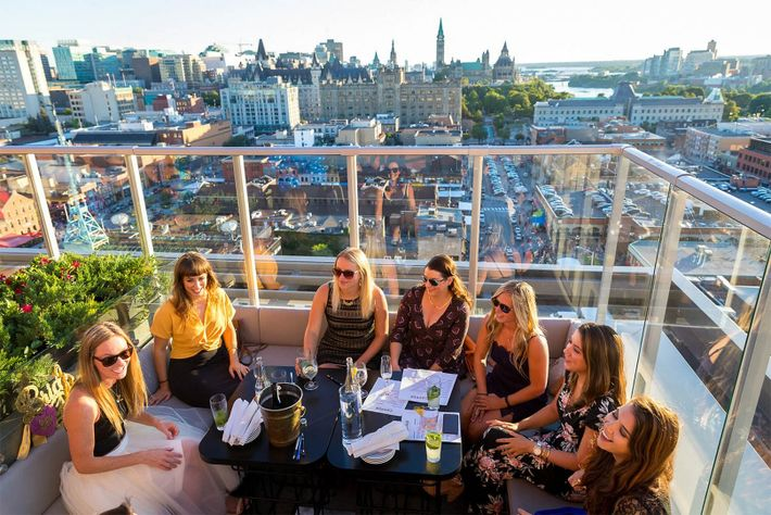 Located on the 16th floor of the Hotel Andaz, Copper Spirits & Sights is the city's ...