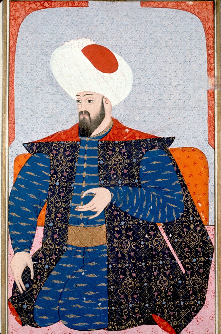 A 16th-century portrait of Osman, the first sultan of the Ottoman Empire.