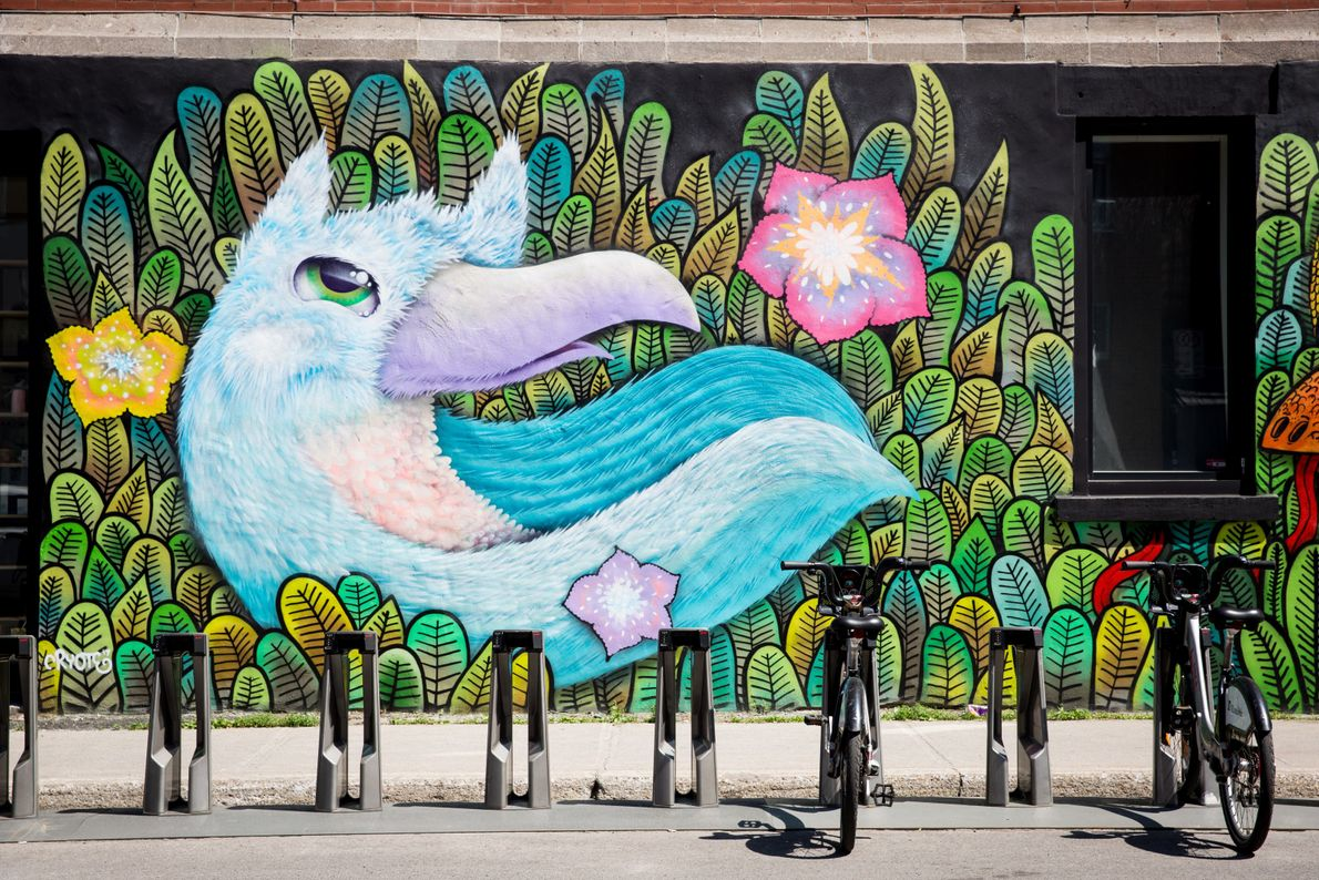 Artists design their masterpieces throughout Montreal.