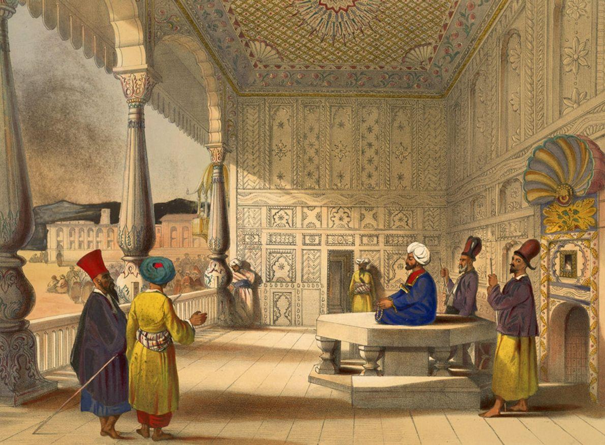 Interior of the palace of Shauh Shujah Ool Moolk