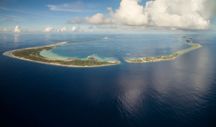 Manihi Atoll, in French Polynesia, is one of many small, natural atoll settlements – some with ...