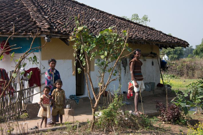 A low-income family in rural Madhya Pradesh, India. A UBI scheme piloted in 2010 saw, according to its ...