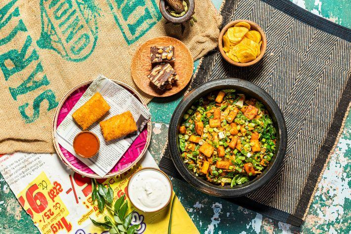 Hoppers' paneer kottu roti, a dish of chopped roti, shredded veg and marinated paneer, involves stir-frying ...