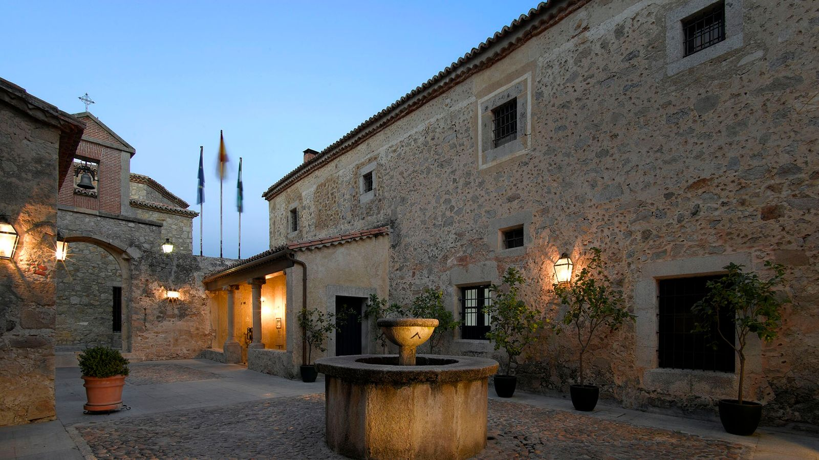 The Parador de Trujillo slots cleanly into the stone structure of the former Santa Clara Convent ...
