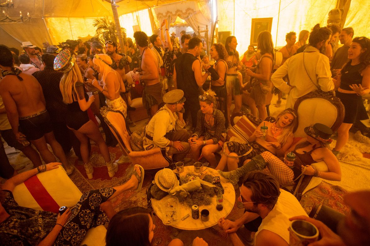 Circus Gitane, a high end luxury camp, hosts a party that involves spinning a dare-filled wheel ...