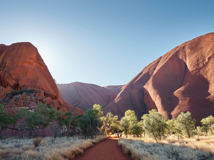 Climbing to the top of Uluru—a height greater than that of the Eiffel Tower—proves a great ...