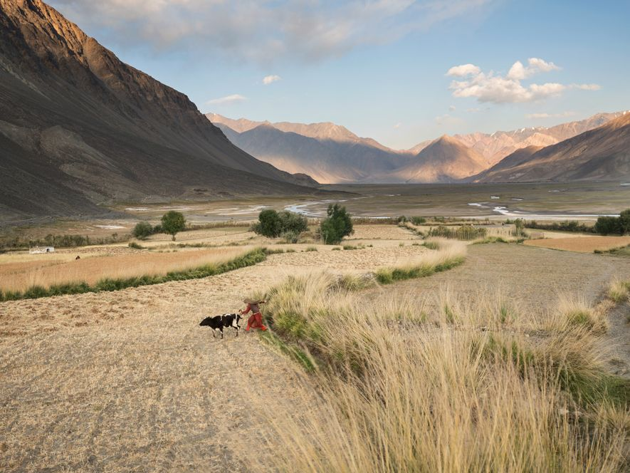 Near the eastern end of the inhabited Wakhan corridor in Afghanistan, where roads dwindle to footpaths, ...