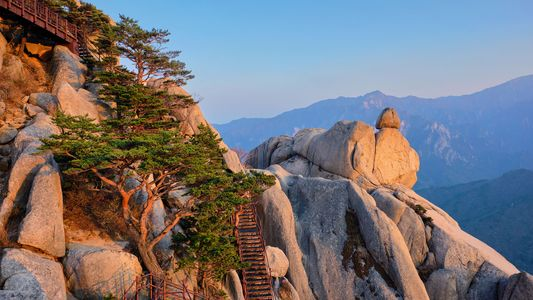 Mountain scenery and a military patrolled border — Gangwon is South Korea's most mysterious province