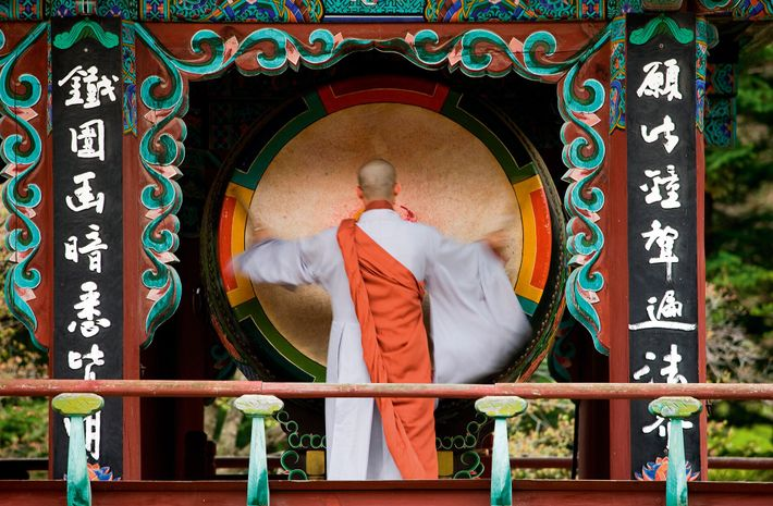 Sinheungsa Temple is an ancient Zen Buddhist site, home to many hundreds of monks.