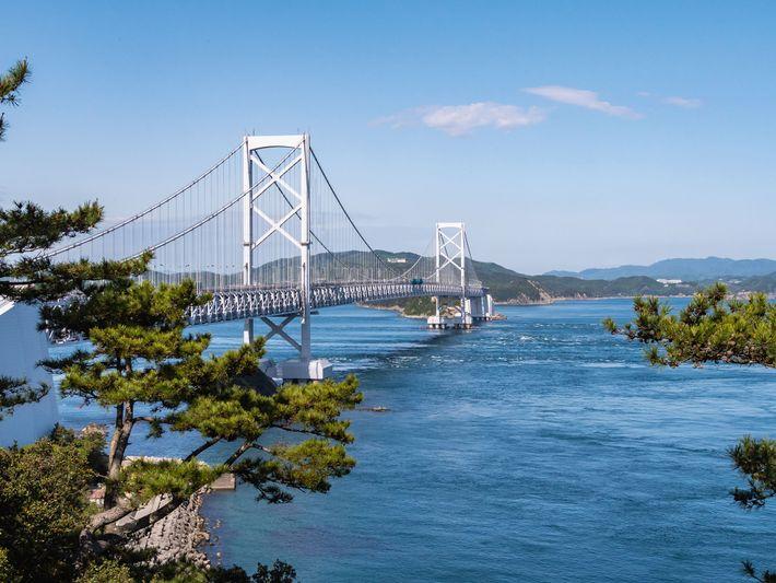 Onaruto Bridge over the  Naruto Strait