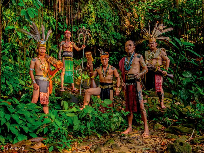 Leo Mua Moko and his four bandmates in Suku Menoa are connected through Sarawak's Iban tribe.