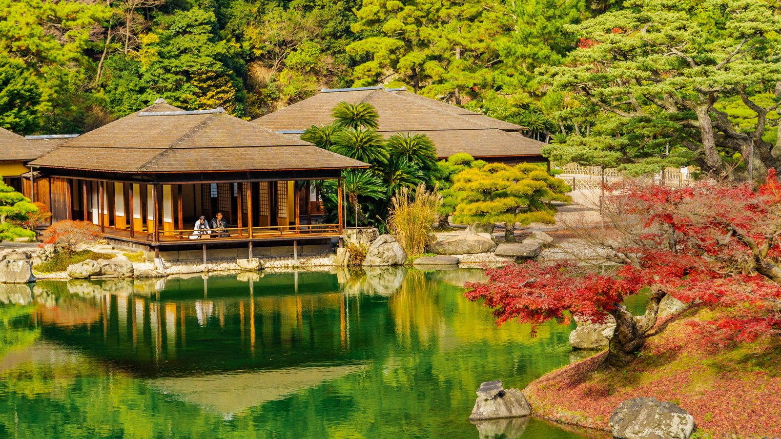 Ritsurin Garden, in the city of Takamatsu, is one of Japan's most beloved temples.