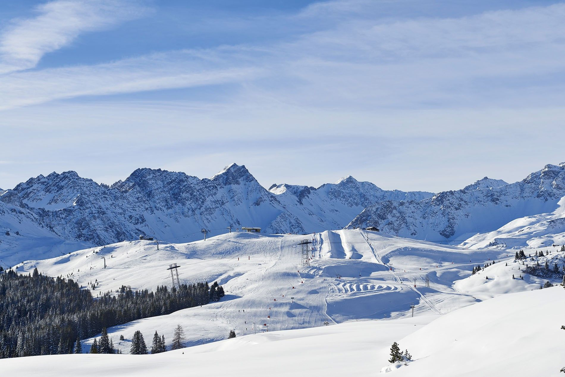 The ski region Arose Lenzerheide, a jewel in the Swiss canton of Graubünden, is one of Switzerland's largest ski areas with 140 miles of groomed pistes.
