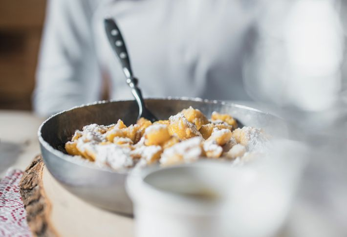 Zillertaler kaiserschmarrn (smashed pancakes), is a traditional and comforting dish eaten throughout Austria.
