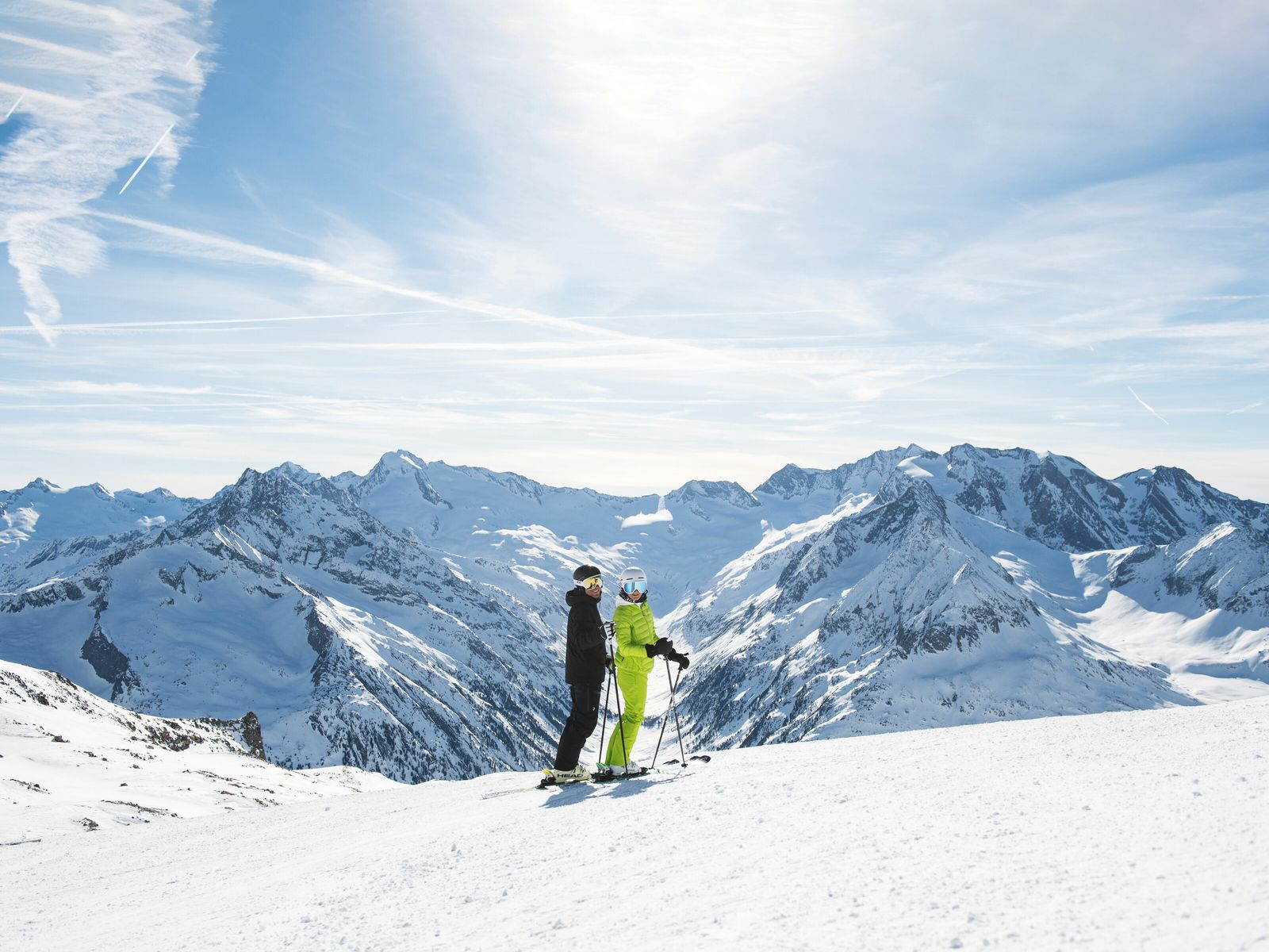 The Hintertuxer Glacier is Austria's only skiing area that promises snow 365 days a year.
