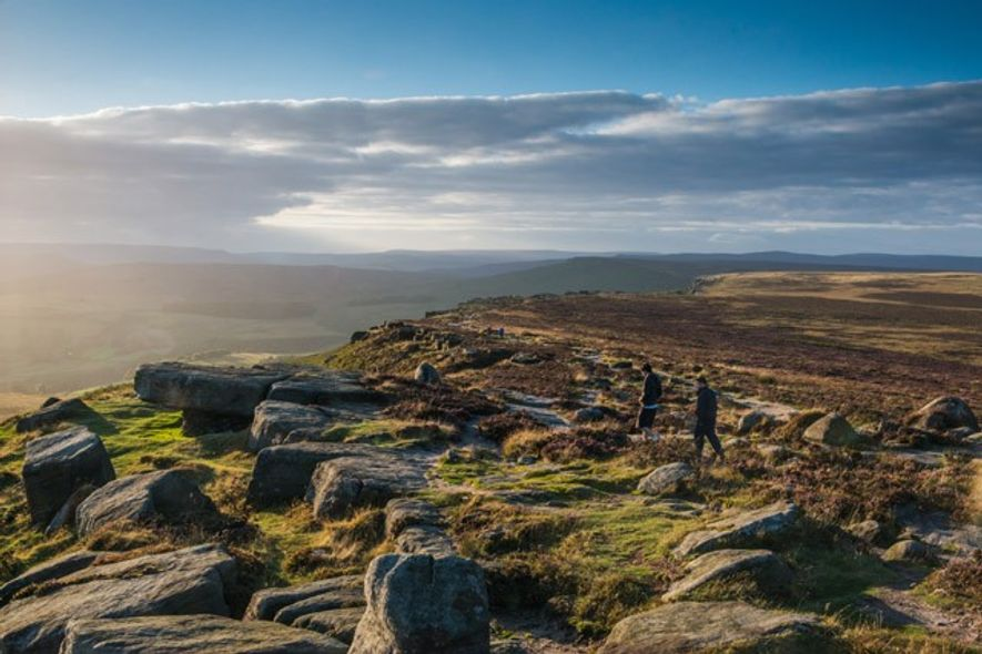 Views over Hope Valley from Stanage Edge, Peak District