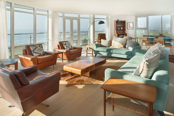 Living area at Pentire