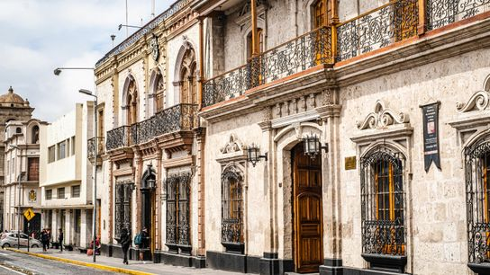 Arequipa's city centre is full of baroque buildings carved from white sillar stone. Wandering around the ...