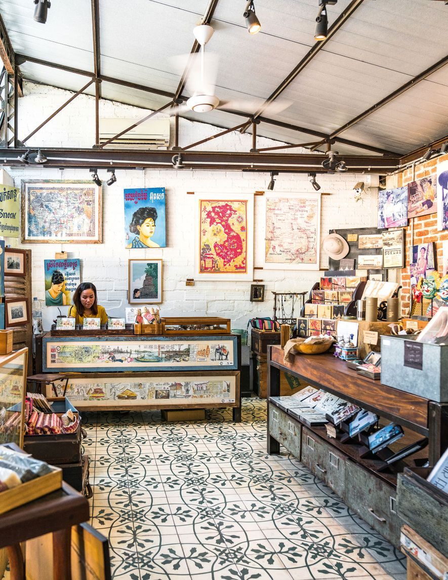 The little Estampe store is stocked with vintage finds, from blocks of black opium soap and ...