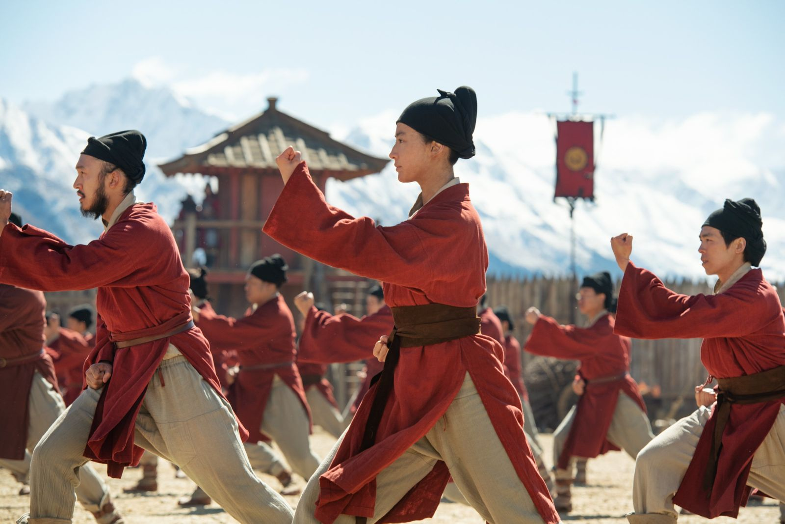 Liu Yifei as Hua Mulan in the new Disney release of Mulan. 'War dances' were observed in China ...