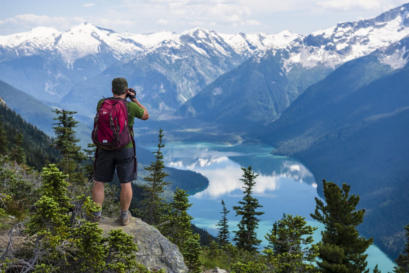 The High Note Trail offers the most scenic view of Cheakamus Lake in Garibaldi Provincial Park.