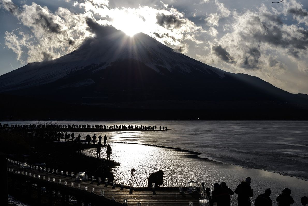 """A popular day to visit Mount Fuji, especially for photographers, is for """"Diamond Fuj"""", a day ..."""