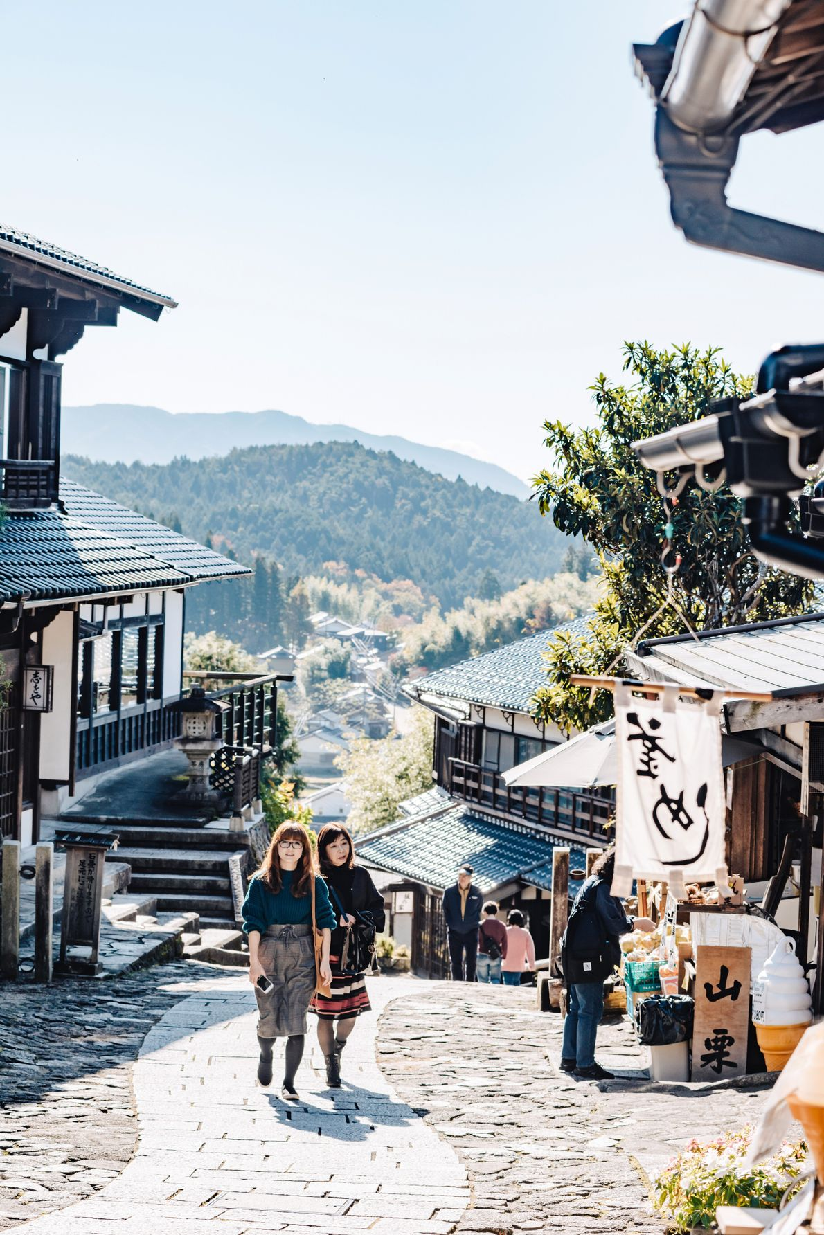A walk through Magome village passes dozens of cafes and restaurants, craft and trinket stalls, and ...