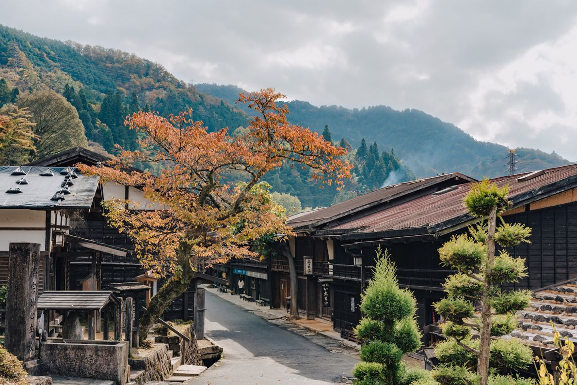 Tsumago has suffered fewer destructive fires than neighbouring Magome, hence its traditional appearance and more meandering ...