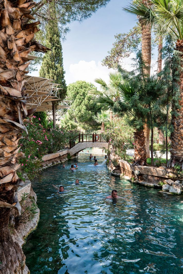 Cleopatra's Pool, a bathing area dating back to Roman rule in which the famous Queen of Egypt is ...