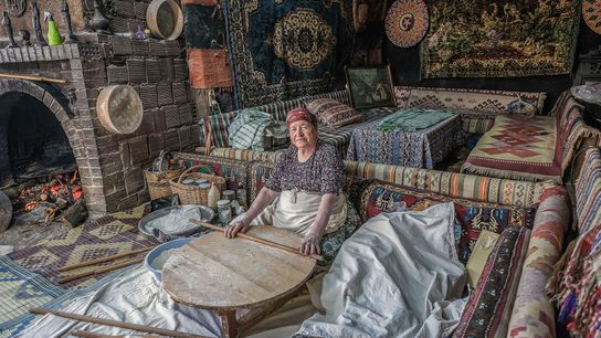 Photographer Nori Jemil captureda local womanmaking 'gozleme', a local spinach and feta pie, in a village ...