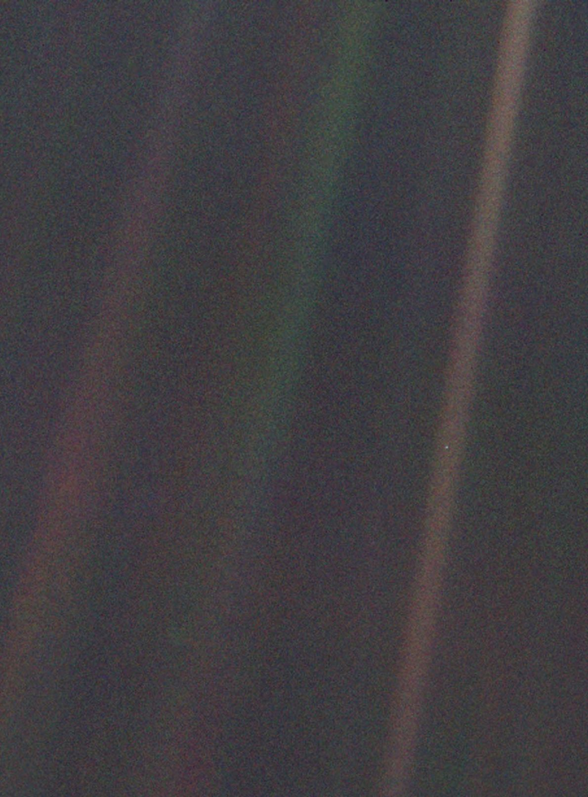 In 1990, the Voyager 1 spacecraft snapped this colour picture of Earth, later dubbed the Pale ...