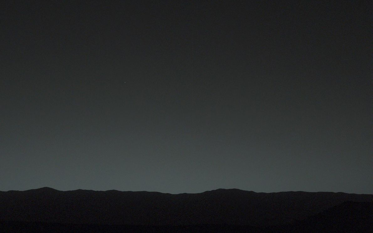 Seen from the surface of Mars, Earth is the brightest point of light in the twilight ...