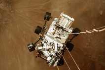 rover lands by skycrane