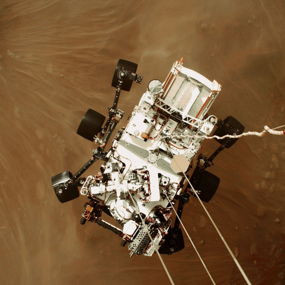 Watch the first-ever video of a spacecraft landing on Mars