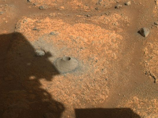 NASA's first Mars sample appears to have crumbled to bits