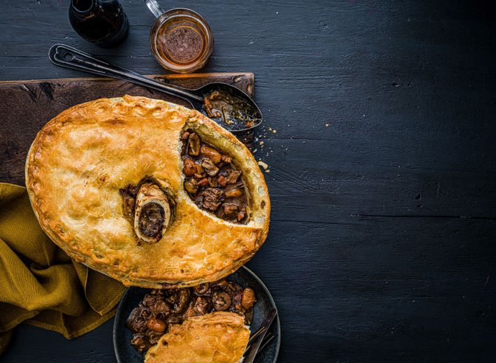 Tom Kitchin's steak and kidney pie makes for the perfect comfort food.