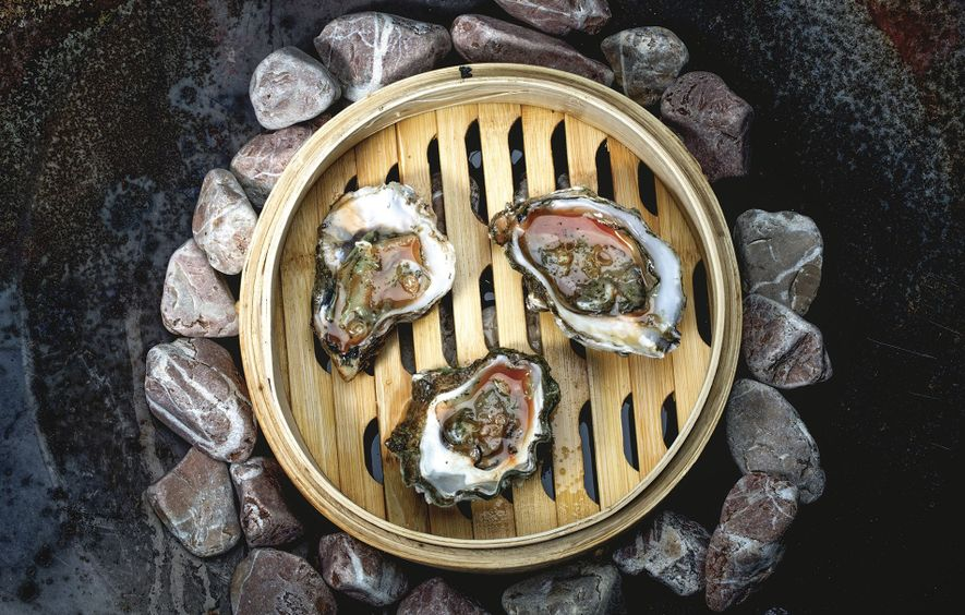 Oysters served at the restaurant