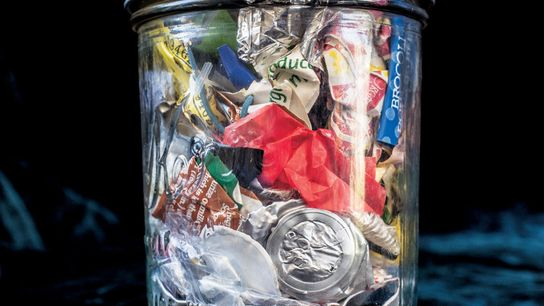 A small jar holds two years' worth of Kathryn Kellogg's unrecyclable, uncompostable waste. She blogs about ...