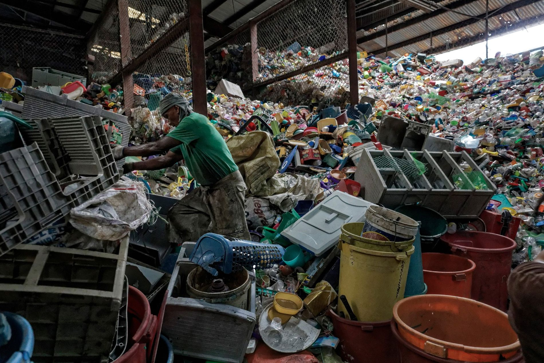 The Philippines is the third largest contributor to ocean plastics in the world. Here, garbage is ...