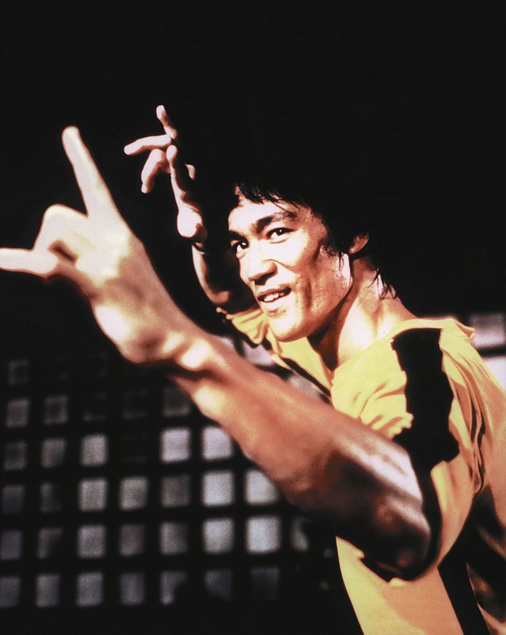 Bruce Lee in his final, posthumously-released film, Game of Death. Lee's charisma and physicality onscreen earned kung ...