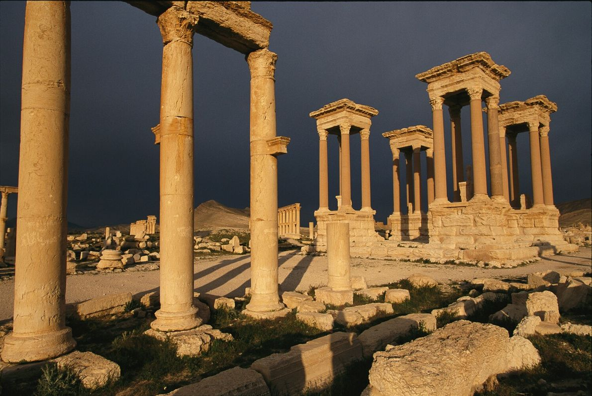 Historical records of the city of Palmyra date back to 2000 B.C. The remains of the ...
